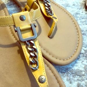 Nicole Mustard Fashion Sandals